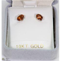102) 10K GOLD TOPAZ (0.096CT) EARRINGS