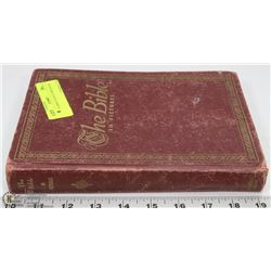 VINTAGE BIBLE IN PICTURES BOOK.
