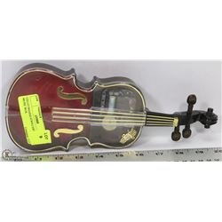 CELLO SHAPED JEWELLERY & MUSIC BOX.