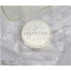 .999 SILVER 1/4 TROY OUNCE COIN.