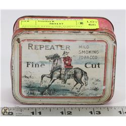 ANTIQUE REPEATER TOBACCO TIN FEATURING NORTHWEST