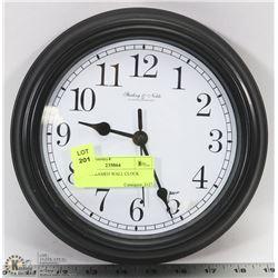 BLACK FRAMED WALL CLOCK