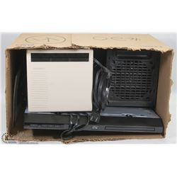 ESTATE BOX WITH PORTABLE HEATER, BLURAY PLAYER AND