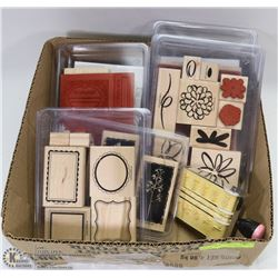 BOX FULL OF SCRAPBOOKING STAMPS &