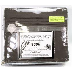BAMBOO DOUBLE SIZE DARK GREY COMFORT PLUS  1800