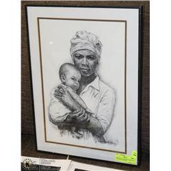 SKETCH OF A MOTHER & CHILD BY J. MACDONALD HENRY