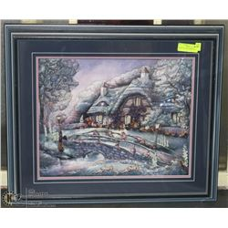 PAPER TOLE WOOD FRAMED HOUSE &