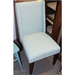 GREEN FABRIC SIDE CHAIR