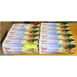 10 BOXES  OF FREEZER BAGS