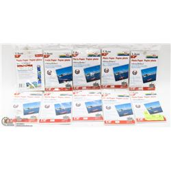 "10 PACKS OF LIKON GLOSSY PHOTO PAPER 4""X6"","