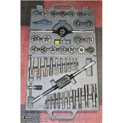 LARGE 44PC TAP AND DIE SET WITH CASE , MISSING