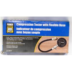POWERFIST COMPRESSION TESTER WITH FLEXIBLE HOSE