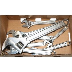 BOX OF CRESCENT WRENCHES