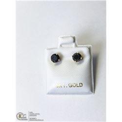 28) 10KT GOLD BLACK DIAMOND EARRINGS