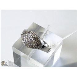 40) STERLING SILVER DIAMOND RING