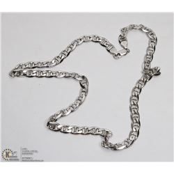 41) STERLING SILVER MENS CHAIN