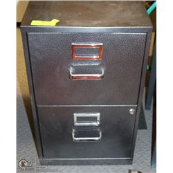 METAL 2 DRAWER FILE CABINET WITH KEY