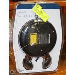 INSIGNIA PORTABLE CD PLAYER WITH HEADPHONES
