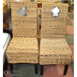 PAIR OF WICKER SIDE CHAIRS