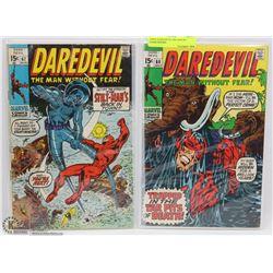 1960'S DAREDEVIL #66 AND #67 COMICBOOKS