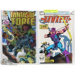 FANTASTIC FOUR #1 AND HAWKEYE #1 COMIC BOOKS