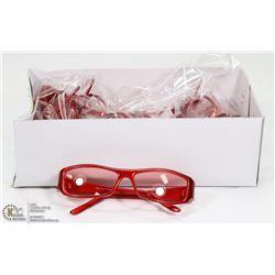 CASE OF RED FRAME  DESIGNER SUNGLASSES
