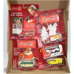 FLAT W/4 COCA COLA JOHNNY LIGHTNING DIE CAST