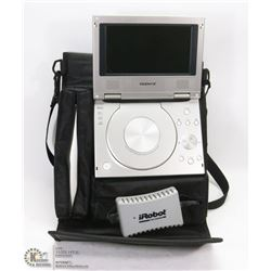 PORTABLE DVD PLAYER COMES WITH DETACHABLE BATTERY