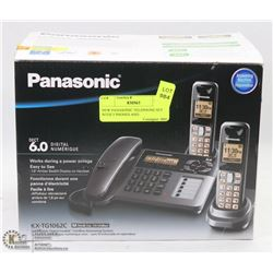 NEW PANASONIC TELEPHONE SET WITH 3 PHONES AND