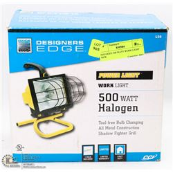 HALOGEN 500 WATT WORK LIGHT NEW.