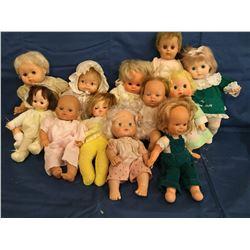 Lot  of 12 Soft Body Dolls