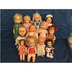 Lot of 12 Hard Plastic Dolls