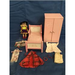 "Vogue "" Ginny ""  Doll , Bed and extra clothes"