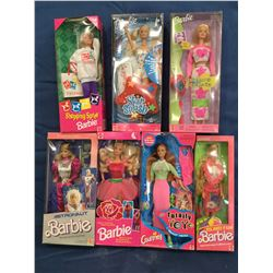 Barbies MIB lot of 6 & 1 Cortney 1980's to 2000