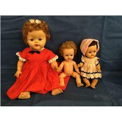 Lot of 3 Betsy Wetsy Dolls