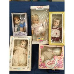 5 Dolls in their Original Boxes