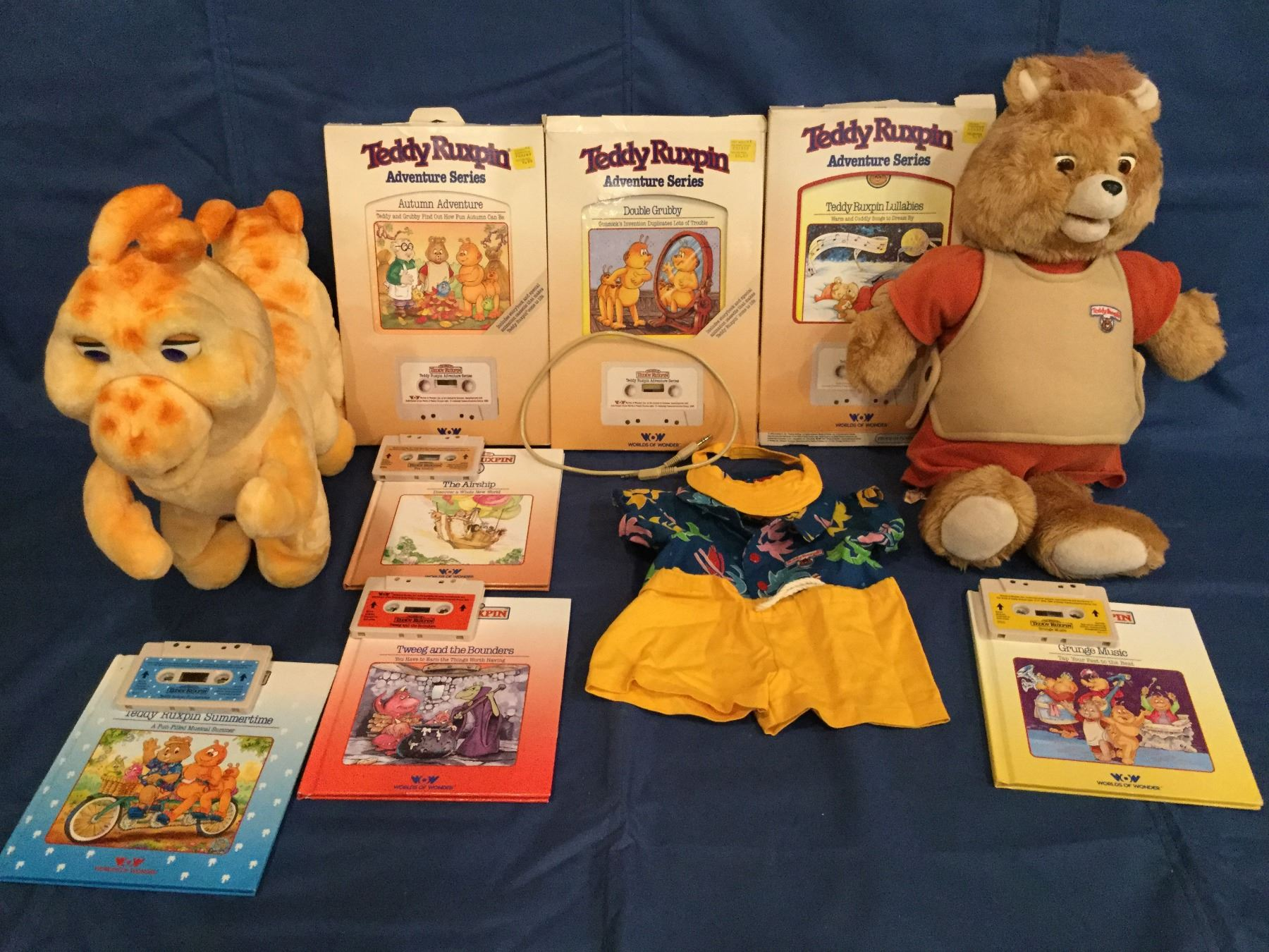 Double Grubby Book and Tape Teddy Ruxpin
