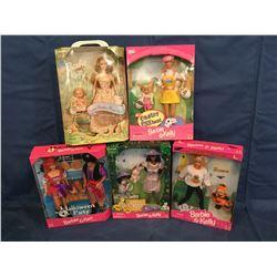 5 Barbie Dolls MIB