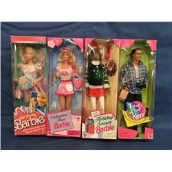 4 Barbie Dolls MIB