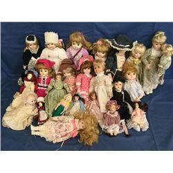 24 Porcelain Dolls not in Boxes