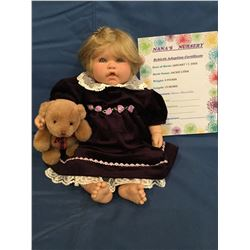 """Reborn """"Jackie Lydia"""" from """"Nana's Nursery"""" ***This is not a Toy****"""