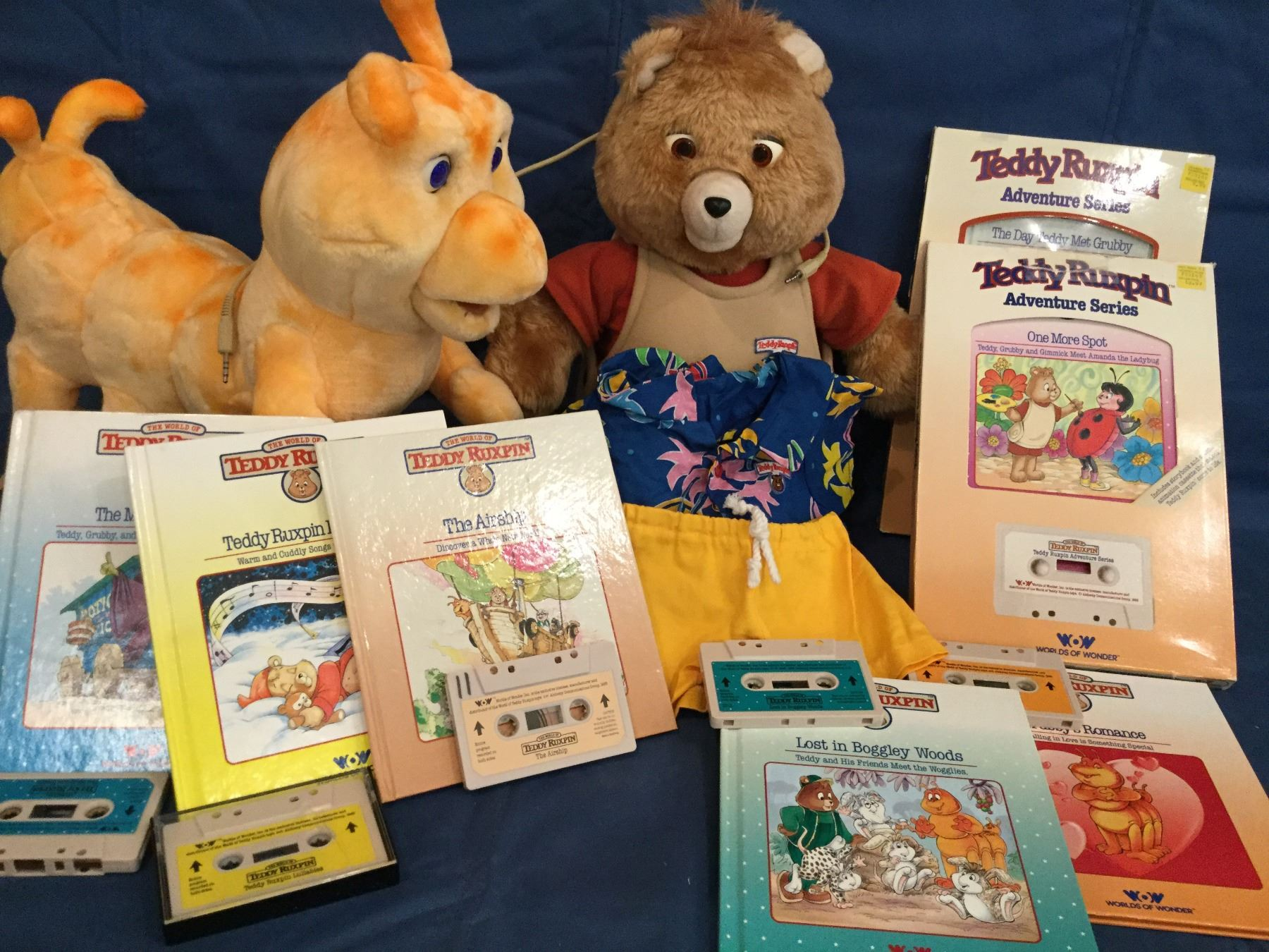 Book and Tape Double Grubby Teddy Ruxpin
