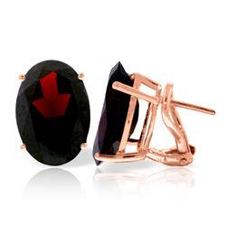 Genuine 13 ctw Garnet Earrings Jewelry 14KT Rose Gold - REF-67N9R