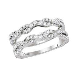 0.50 CTW Diamond Ring 14KT White Gold - REF-67N4F