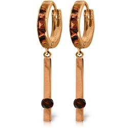 Genuine 1.35 ctw Garnet Earrings Jewelry 14KT Rose Gold - REF-66K2V