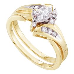 0.25 CTW Marquise Diamond Bridal Engagement Ring 14KT Yellow Gold - REF-49H5M