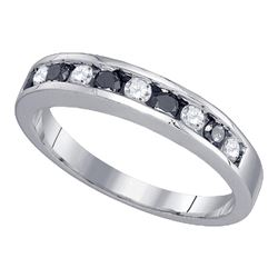 0.50 CTW Black Color Diamond Ring 10KT White Gold - REF-26F9N