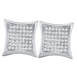 0.33 CTW Diamond Kite Cluster Earrings 10KT White Gold - REF-26X9Y