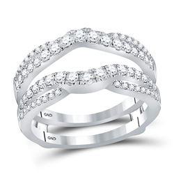 0.63 CTW Diamond Ring 14KT White Gold - REF-82M4H