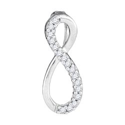 0.10 CTW Diamond Infinity Love Pendant 10KT White Gold - REF-7H4M